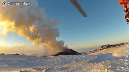 Изригването на вулкана в Камчатка