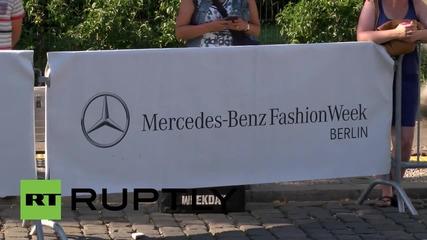 Germany: Model Eva Herzigova attends Berlin Fashion Week