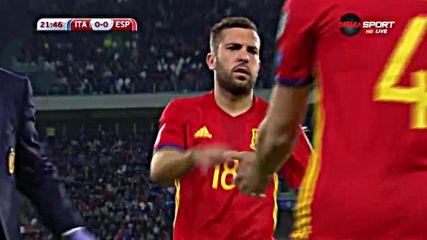 Италия - Испания 0:0 /първо полувреме/