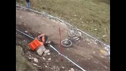 Mtb Crash at World Cup Fort William downhill