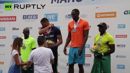 Usain Bolt Unhappy With 'Mano a Mano' Race Win