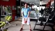 Фитнес упражнения - Клек с дъмбел или пудовка