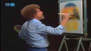 S23 Радостта на живописта с Bob Ross E04 Reflections of Gold ღобучение в рисуване, живописღ