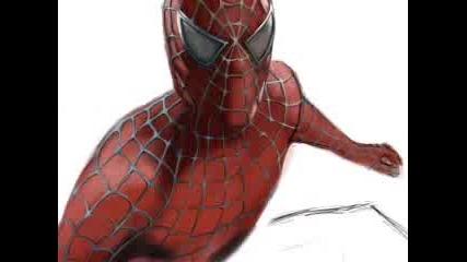 Рисуване На Spider - Man С Photoshop