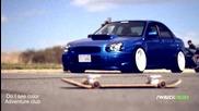 Красота ,стил и мощ Subaru Sti and Mitsubishi Evo X