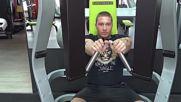 Фитнес упражнения - Избутване на машина за гърди (chest press machine)