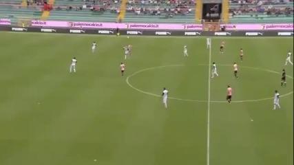 Удивителен гол на Фабрицио Миколи...палермо - Киево 4:1 30.09.2012