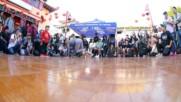 Kids Dance Battle Shocks The World B boy Drew vs B Girl Goldi Rox Freestyle Bass Party Film Menejer