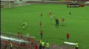 Ултрасите на Цска нахлуха на терена и подгониха играчите на Ашдод