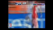 Прекрасен гол на Керан Гибс от малък ъгал с бг коментар - Арсенал 3:0 Астън Вила