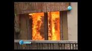 Пожар в складове в Пловдив