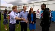 Болт се срещна с Кейт и Уилям