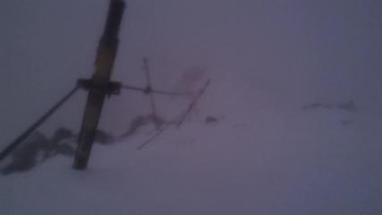 Зверска буря под Връх Мусала 24.02.2012