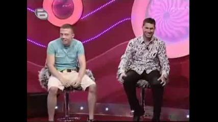 Погледнете номер 1 , а след това вижте реакцията на номер 3 победителя в шоуто - да паднеш от смях