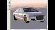 audi a5 - ms paint.. Audi