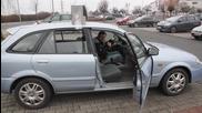 Шега с мощен клаксон на автомобил