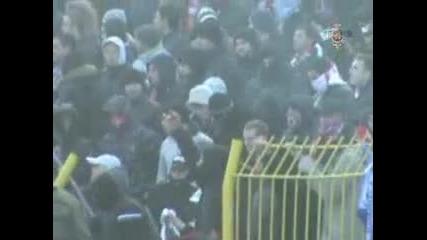 Безредици на двубоя Левски-ЦСКА