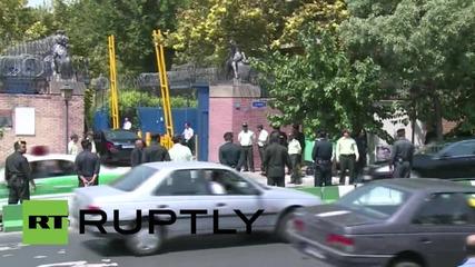Iran: British embassy reopens in Tehran after 4-yr closure