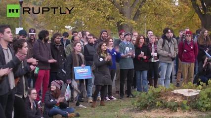 'Bern it down!' Students Rally For Bernie Sanders
