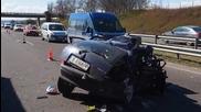 Тежка катастрофа между тир и три коли на входа на Варна