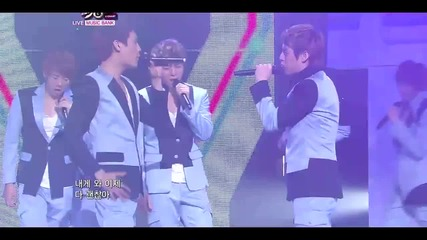 U - kiss - 0330 [live at Music Bank 1.04.2011][ Comeback stage]