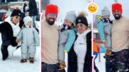 С деца на курорт: Златка и Благой изпращат зимата със ски в Боровец! Вижте порасналия им син