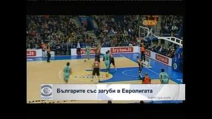 Българите със загуби в Евролигата