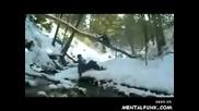 Смешно Изтърсване С Сноуборд