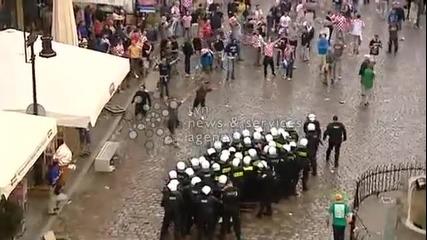 Хърватски хулигани срещу полицията