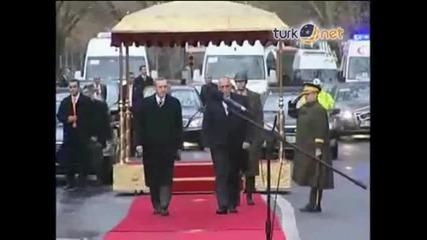 посрещане на Бойко Борисов в Турция