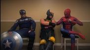 Фенско видео: Чакалнята (част 2/4) - Капитан Америка, Върколакът и Човекът - Паяк
