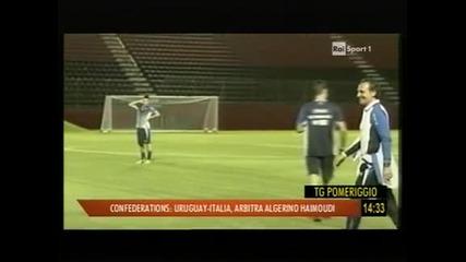 Италия без Пирло и Бардзали срещу Уругвай