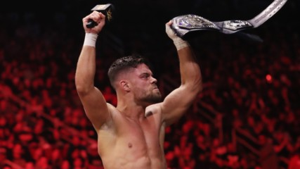 Newly crowned NXT Cruiserweight Champion Jordan Devlin declares himself the best on the planet: WWE Worlds Collide, Jan.