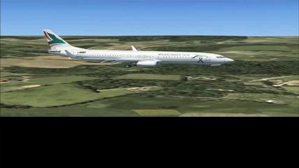 Кацане във Варна Boeing 737 - 800, Bulgaria Air