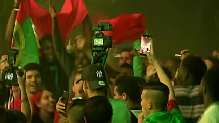 France: Portugal fans celebrate Euro 2016 victory against France