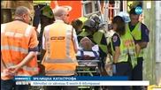 Зрелищна катастрофа – автобус се заклещи в мост