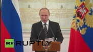 Russia: 'Syria operations confirm readiness to respond to terror threats' - Putin