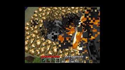 [mineraft] Как да си направим горящ диспенсър
