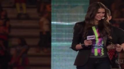 Joe Jonas and Nina Dobrev hosting the We day Event in Toronto