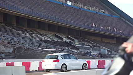 Highway diverted THROUGH Atletico Madrid's half-demolished stadium
