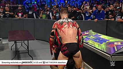 """Roman Reigns spears """"The Demon"""" through the barricade: WWE Extreme Rules 2021 (WWE Network Exclusive)"""