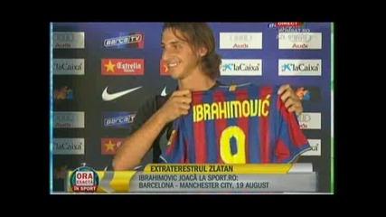 Ибрахимович целува емблемата на Барселона