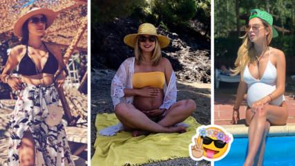 Бременни и на море: Как звездните бъдещи BG майки прекарват лятото?