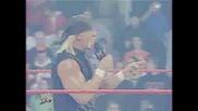 Hulk Hogan Helps Hornswoggle (raw 15th Anniversary)