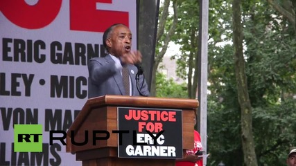 USA: Al Sharpton joins protest in memory of Eric Garner