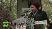 Куентин Тарантино участва в протест срещу полицейското насилие в САЩ