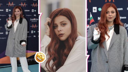 Виктория Георгиева обра овациите на тюркоазения килим на Евровизия 2021, предричат ѝ успех
