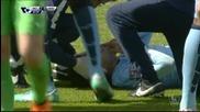 Жестокият удар в лицето на Давид Силва