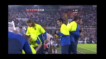 Racing - Barcelona 0 - 2 Messi