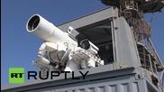 Напълно боеспособно лазерно оръдие взриви лодка и летящ дрон